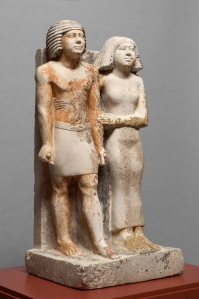 Standing pair statue inscribed for Kapuptah and his wife Ipep from G 4461: Kunsthistorisches Museum, Vienna ÄS 7444