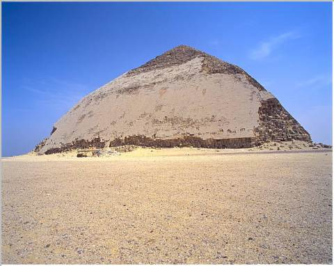 The Bent Pyramid of Snefru at Dahshur (Dynasty 4) (Photo: Frank P. Roy)