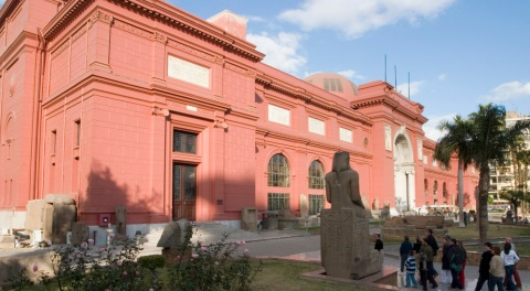 The world famous Egyptian Museum, Cairo welcomes well over 1 million visitors per year.