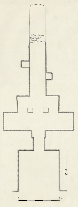 Figure 4. Plan of rock-cut tomb NC2 by Nicholas Melnikoff (1939). Courtesy Museum of Fine Arts, Boston.